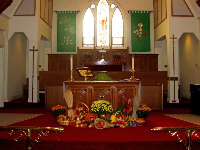 Creative Worship Ideas For Thanksgiving  17 Best images about Harvest display for church on