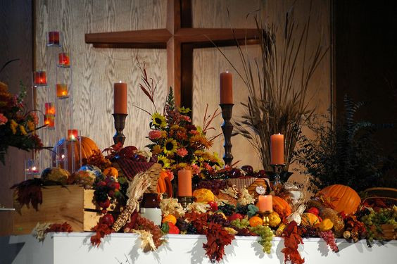 Creative Worship Ideas For Thanksgiving  Thanksgiving altar decorations Holiday Decor