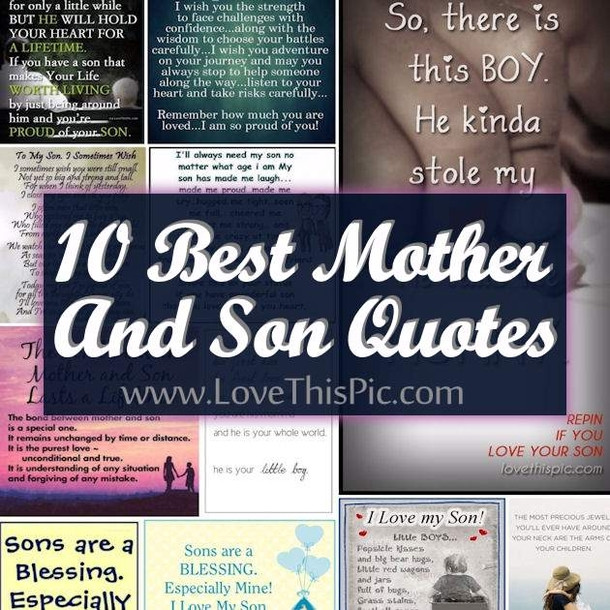 Cute Mother Son Quotes  10 Best Mother And Son Quotes