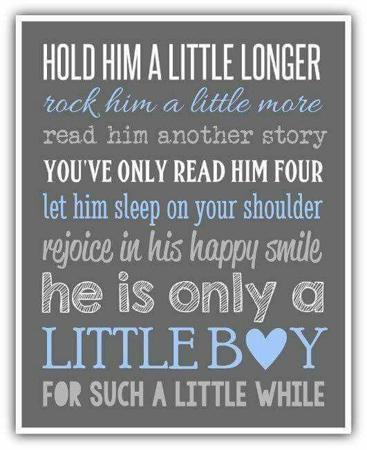 Cute Mother Son Quotes  Hold him a little longer kids