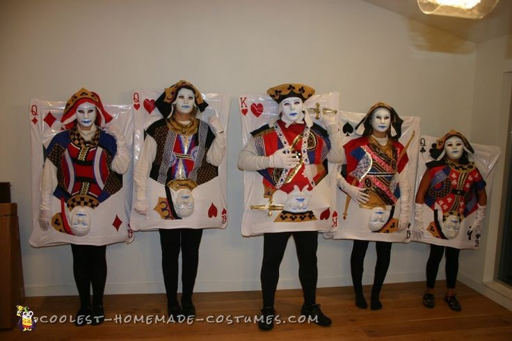 Deck Of Cards Halloween Costumes  406 best Group Halloween Costume Ideas images on Pinterest