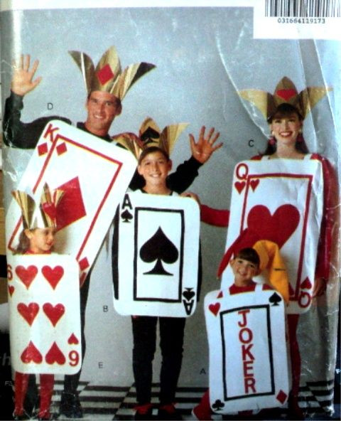Deck Of Cards Halloween Costumes  Awesome family deck of cards costume