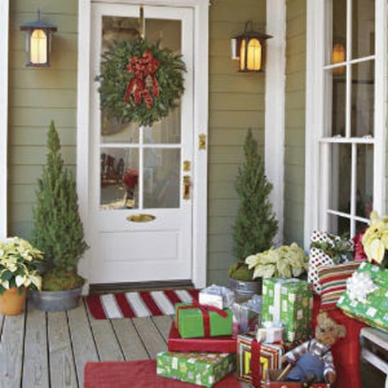 Decorate Front Porch For Christmas  60 Beautifully Festive Ways to Decorate Your Porch for