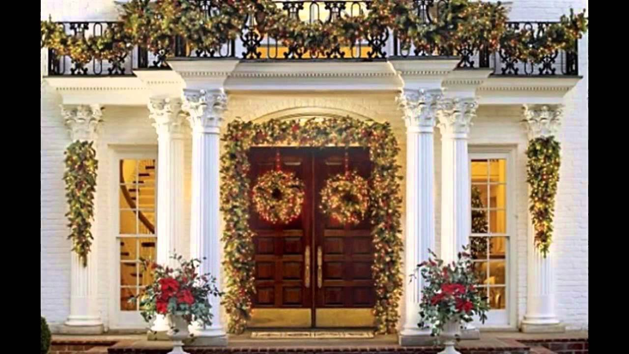 Decorate Front Porch For Christmas  Fascinating Front porch christmas decorating ideas