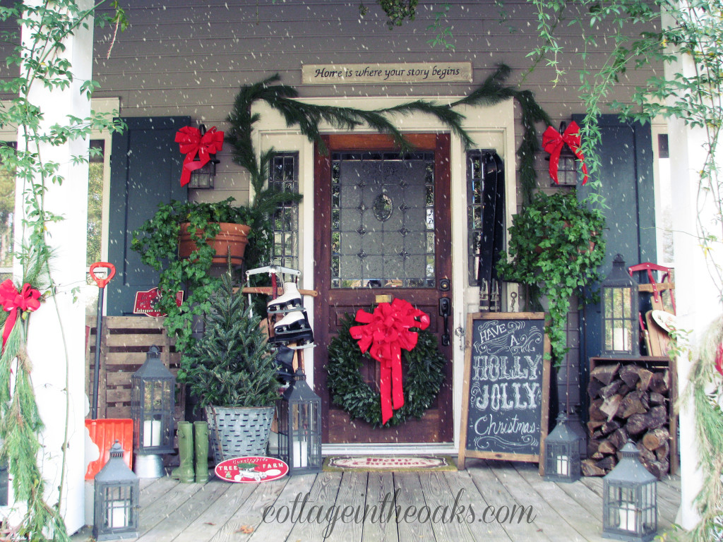 Decorate Front Porch For Christmas  13 Stunning Christmas Porch Decor Ideas HoneyBear Lane