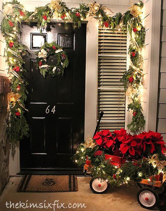 Decorate Front Porch For Christmas  35 Cool Christmas Porch Decorating Ideas All About Christmas