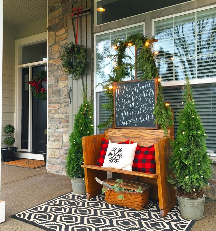Decorate Front Porch For Christmas  Best 25 Christmas porch ideas on Pinterest