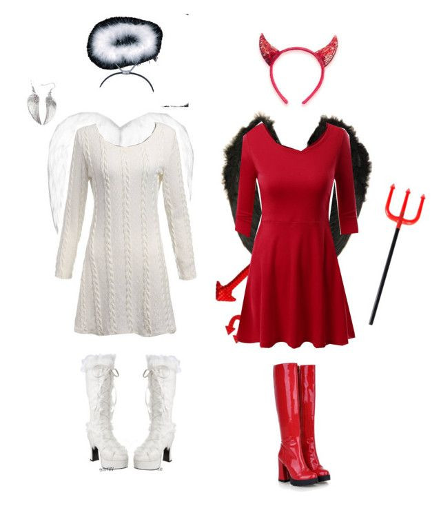 """Devil Costume DIY  """"Angel and Devil costumes"""" by whoviangirl22 liked on"""