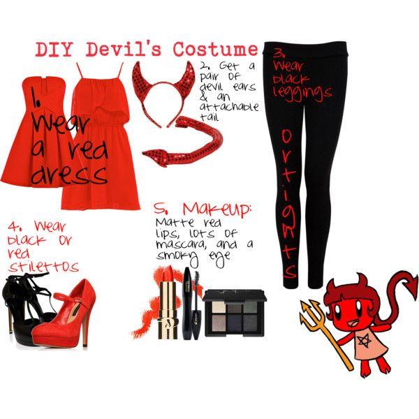 """Devil Costume DIY  """"DIY Devil s Costume"""" by penguinluver8888 on Polyvore"""