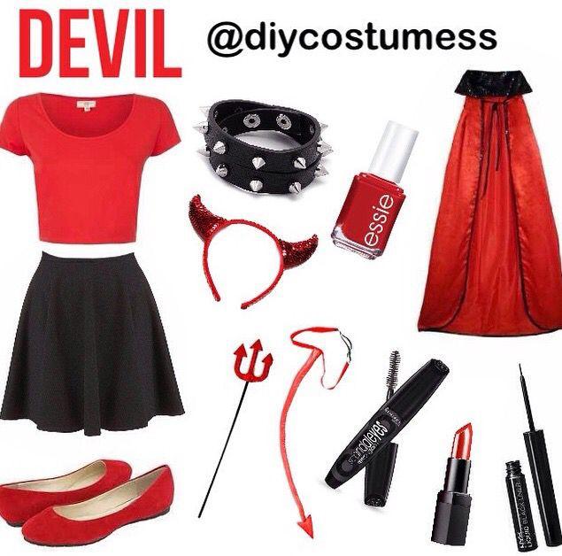 Devil Costume DIY  Diy devil Halloween costume Halloween