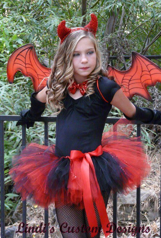 Devil Costume DIY  Diablo Tutu rojo y negro con acento de lentejuelas rojo