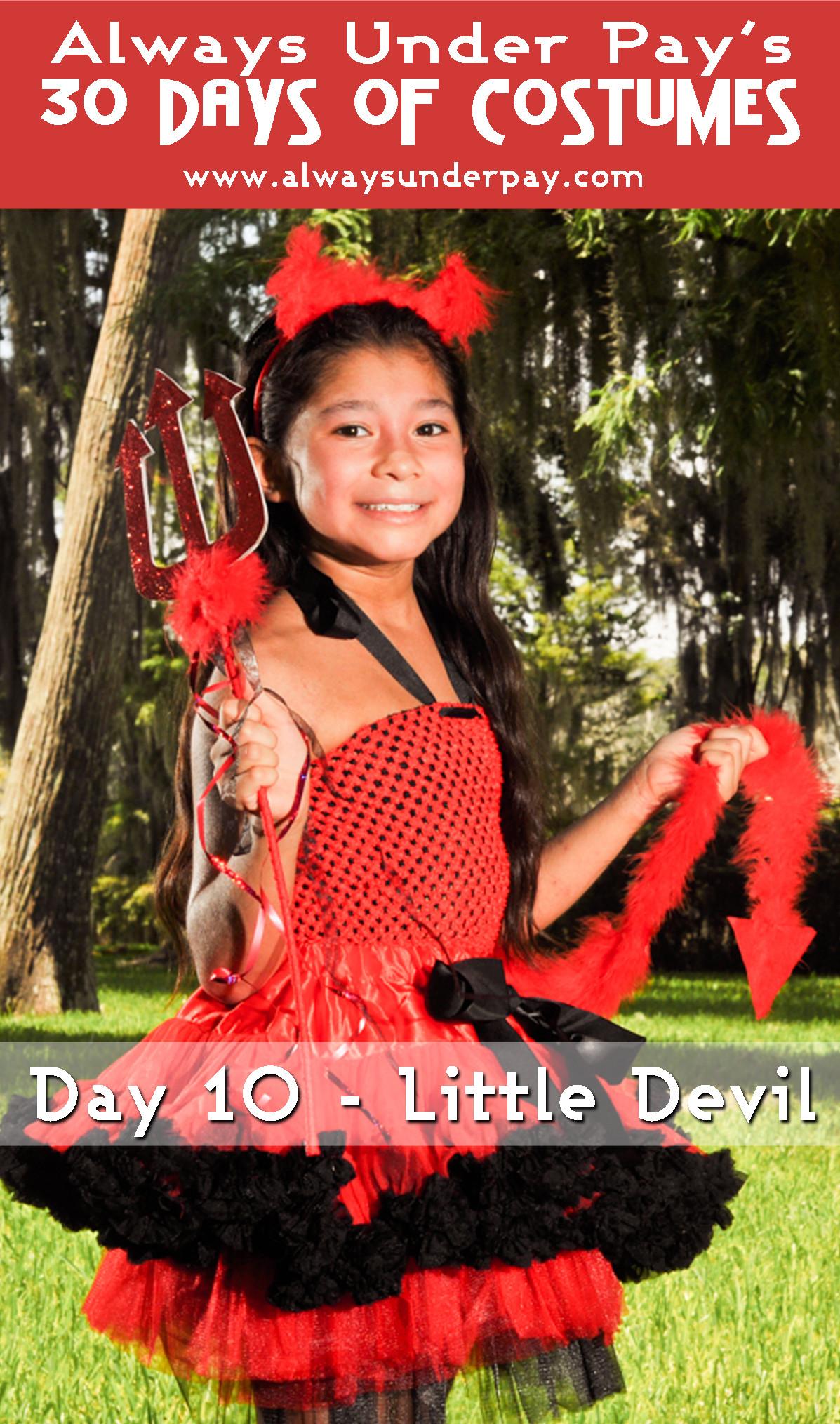 Devil Costume DIY  Day 10 – Little Devil DIY Halloween Costume Tutorial Cheap