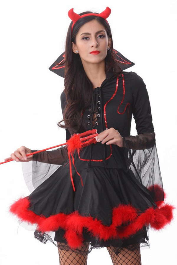 Devil Costume DIY  Vampire Mistress Halloween Devil Costume PINK QUEEN