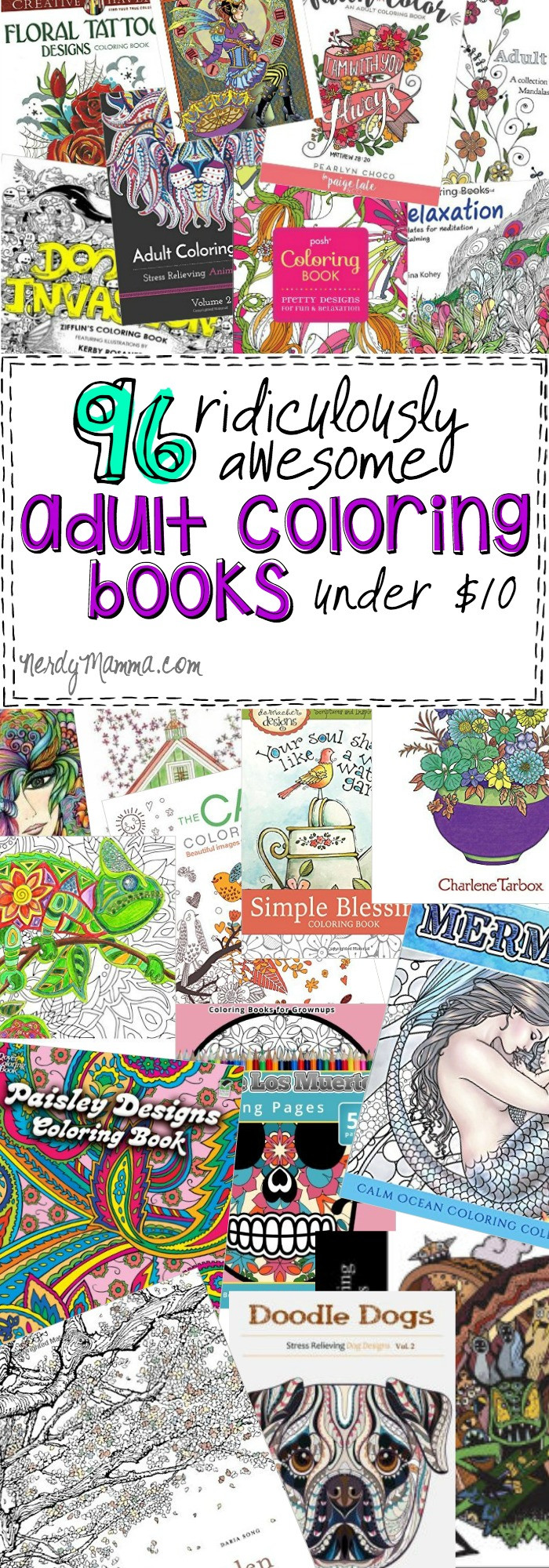 Discount Adult Coloring Books  96 Ridiculously Awesome Adult Coloring Books Under $10
