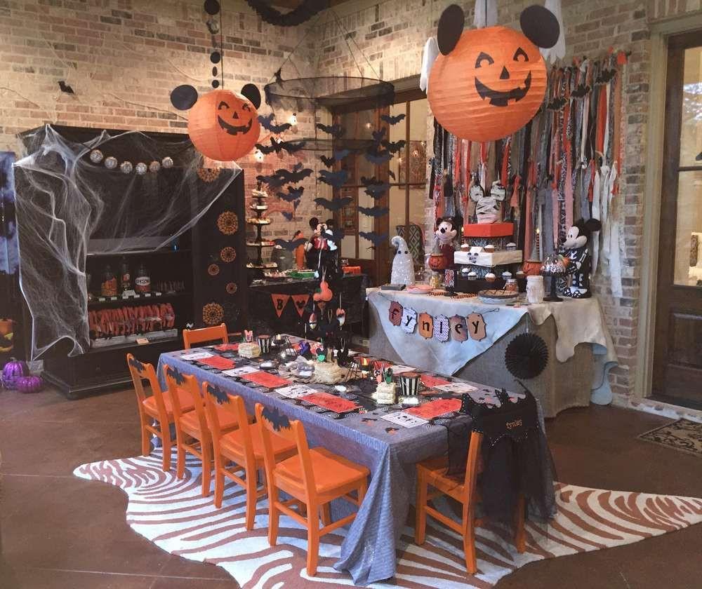 Disney Halloween Party Ideas  Mickey mouse halloween Birthday Party Ideas