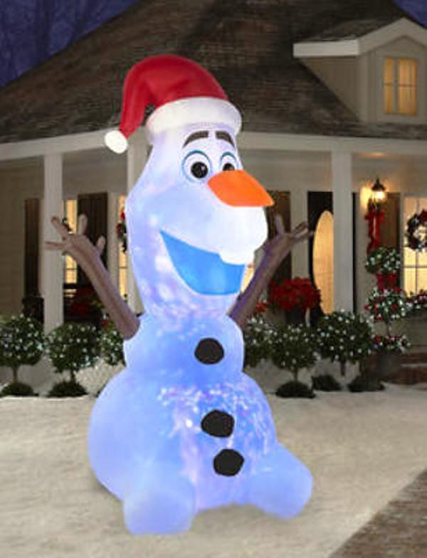Disney Outdoor Christmas Decorations  HUGE 12 FROZEN OLAF Disney INFLATABLE Snowman OUTDOOR