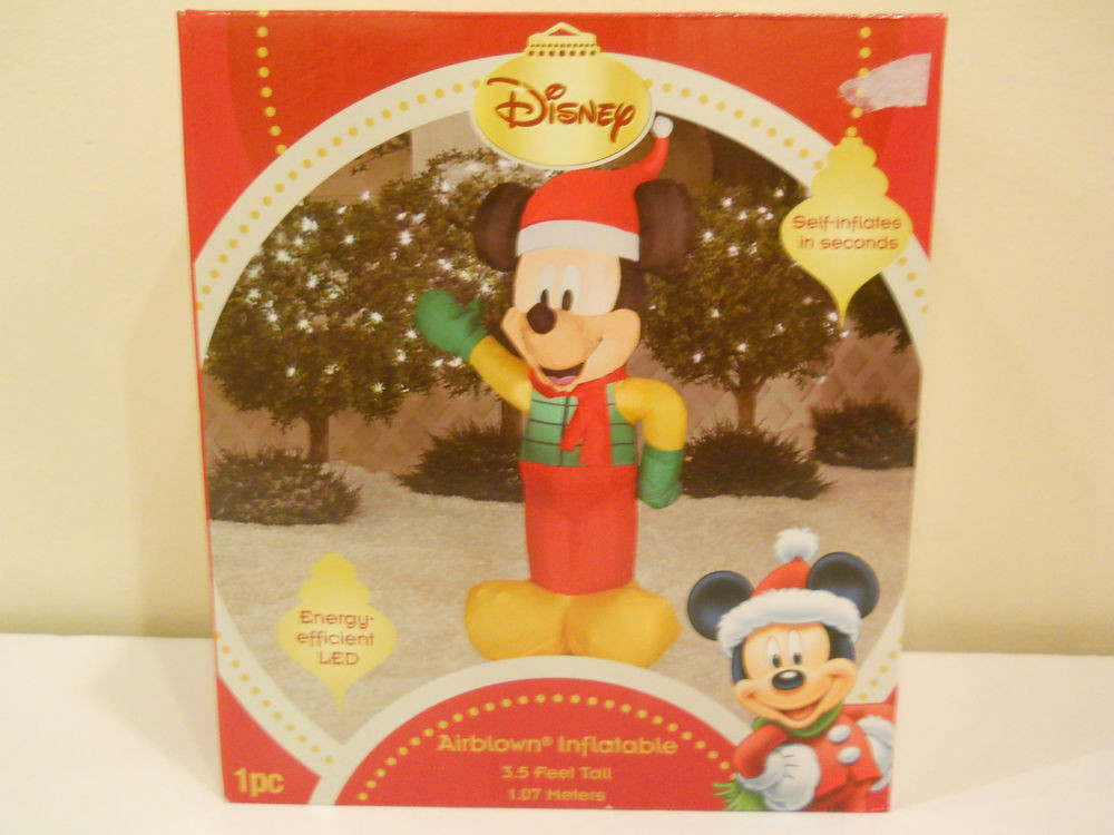 Disney Outdoor Christmas Decorations  NEW CHRISTMAS AIRBLOWN INFLATABLE DISNEY MICKEY MOUSE