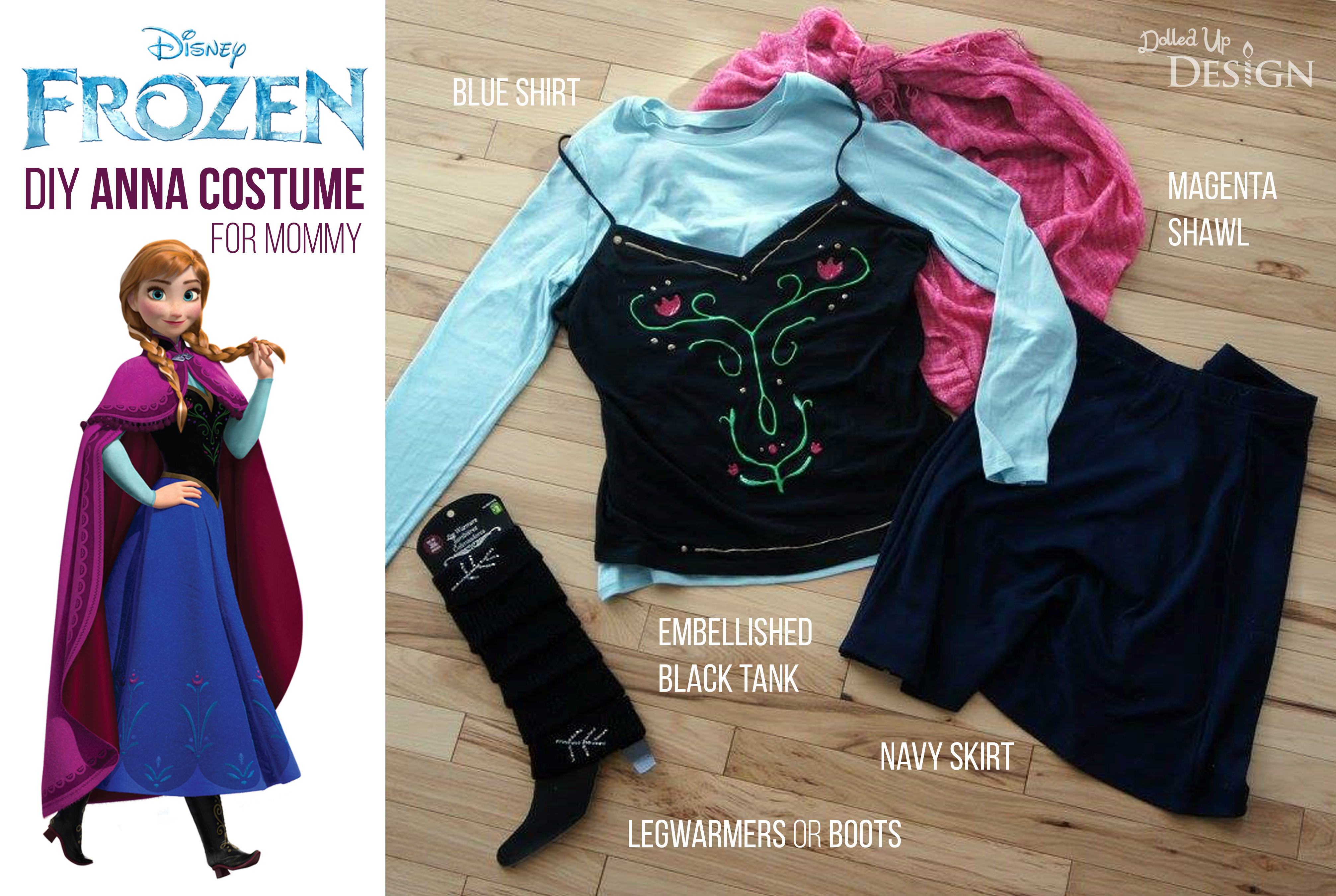 DIY Anna Costumes  A DIY Princess Anna Costume for Mommy