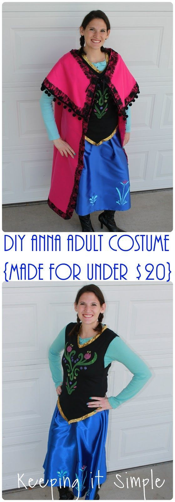 DIY Anna Costumes  25 best ideas about Adult Costumes on Pinterest