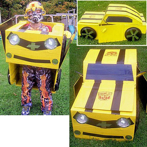 DIY Bumblebee Transformer Costume  25 DIY Costumes for a Family Themed Halloween