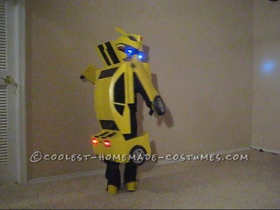 DIY Bumblebee Transformer Costume  Awesome Homemade Transforming Bumblebee Transformer