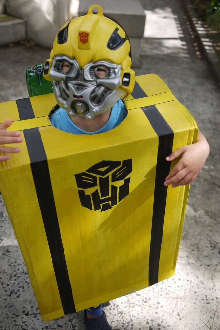 DIY Bumblebee Transformer Costume  Home made Bumble Bee Transformer costume with jet packs