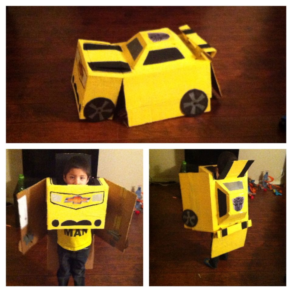 DIY Bumblebee Transformer Costume  Bumblebee Transformers Costume Homemade with one
