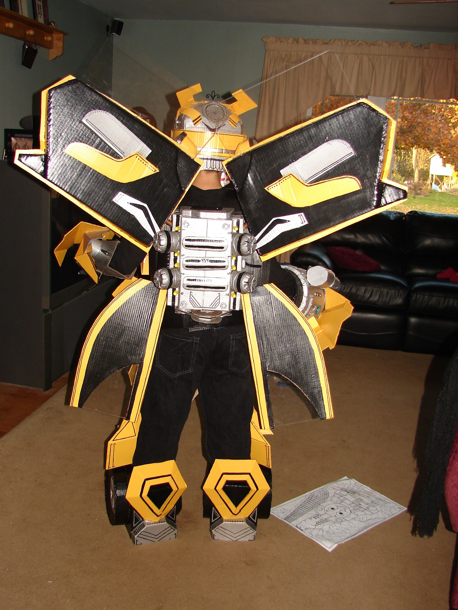 DIY Bumblebee Transformer Costume  transformers bumblebee homemade costume