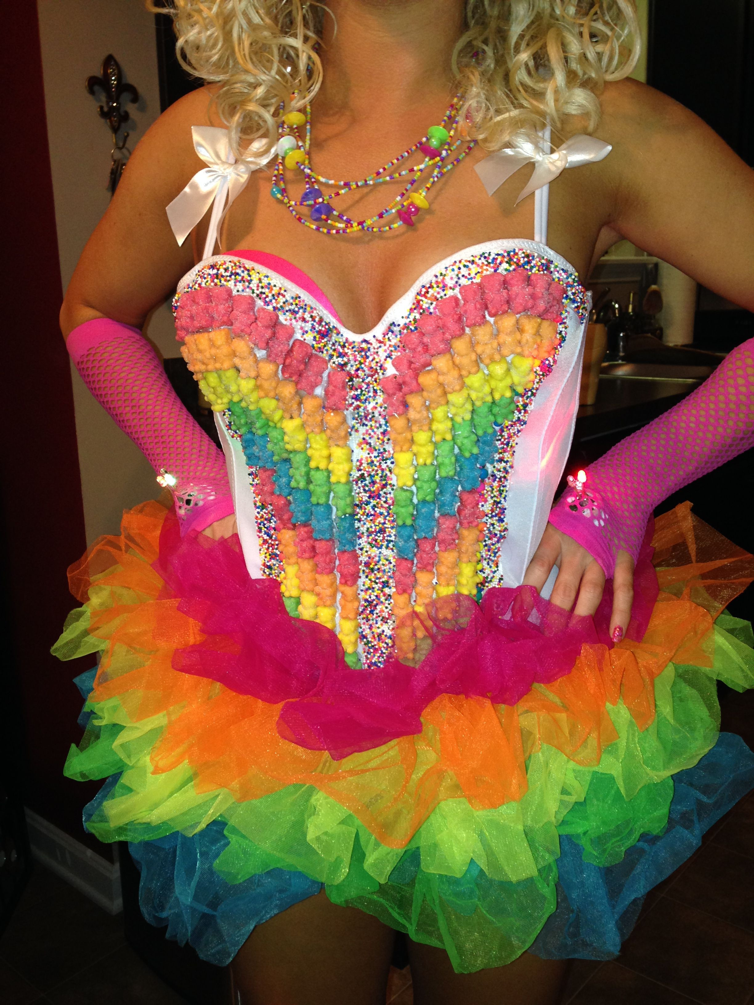 DIY Candy Costume  Homemade candy girl costume We could have girls dressed