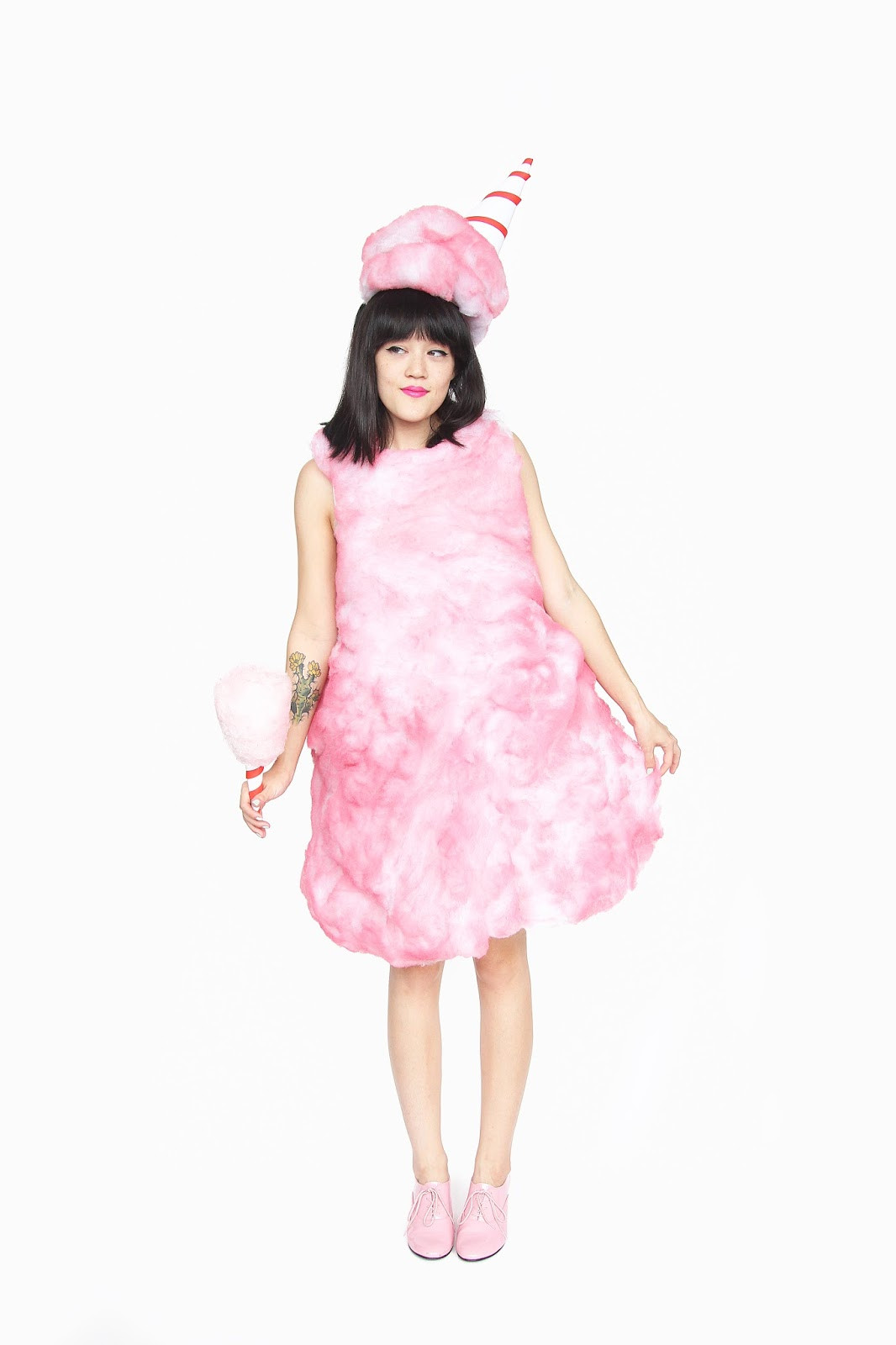 DIY Candy Costume  DIY Cotton Candy Halloween Costume