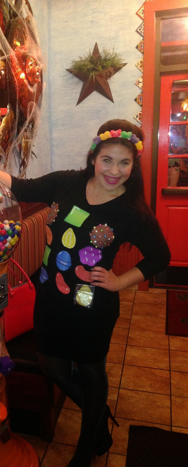 DIY Candy Costume  Sangrias and Sequins DIY Candy Crush Costume