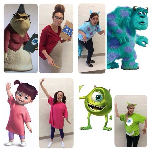 DIY Cartoon Costumes  Monsters Inc Group Costumes Group HalloweenDisney