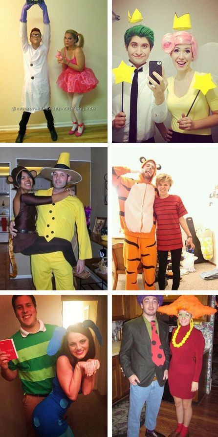 DIY Cartoon Costumes  15 Fun and Unique DIY Halloween Couples Costumes Inspired