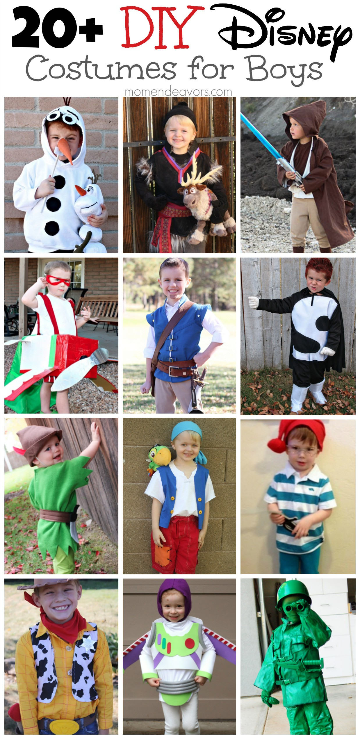 DIY Cartoon Costumes  DIY Disney Costumes for Boys