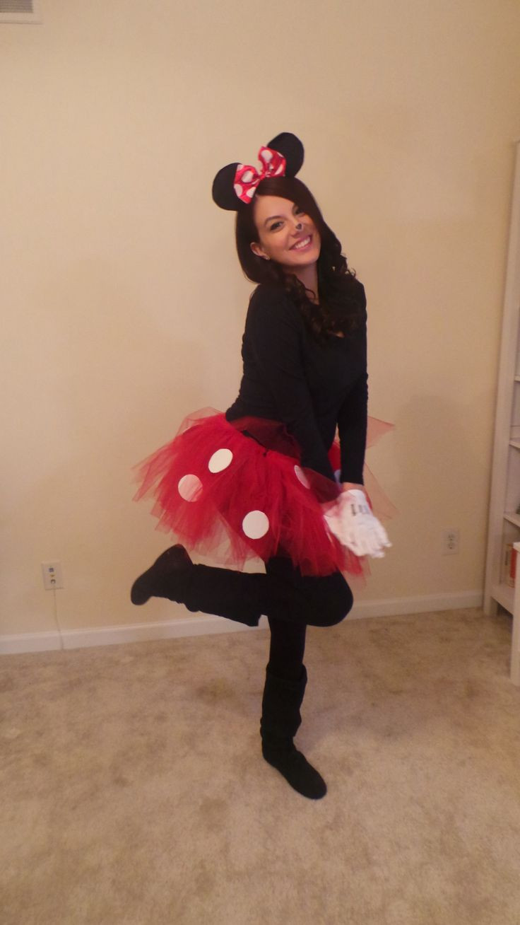DIY Cartoon Costumes  DIY Minnie Mouse costume My style