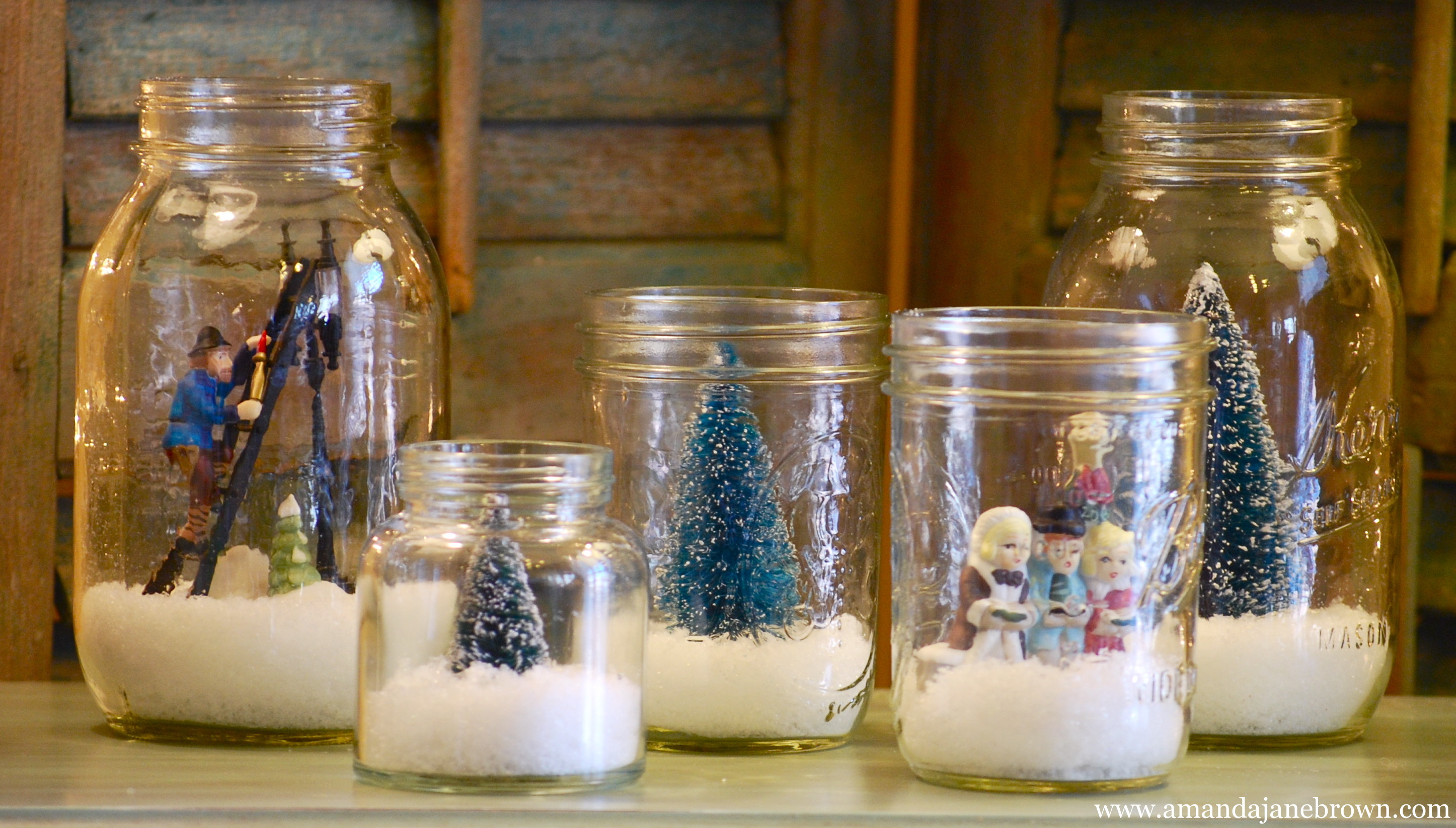 DIY Christmas Decor Pinterest  DIY Snow Globes Amanda Jane Brown