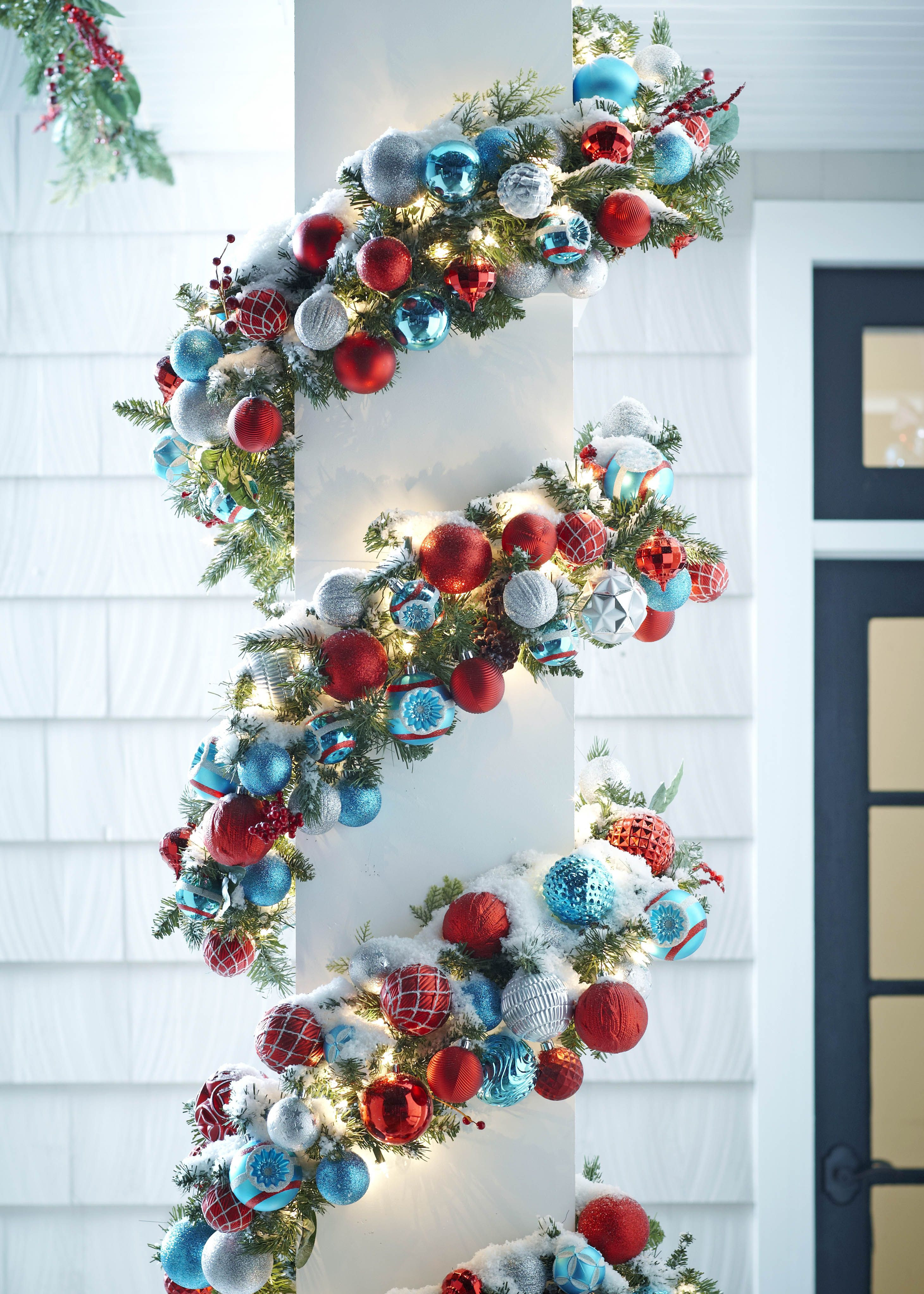 DIY Christmas Garland Ideas  Add shatterproof ornaments with wire to pre lit garland