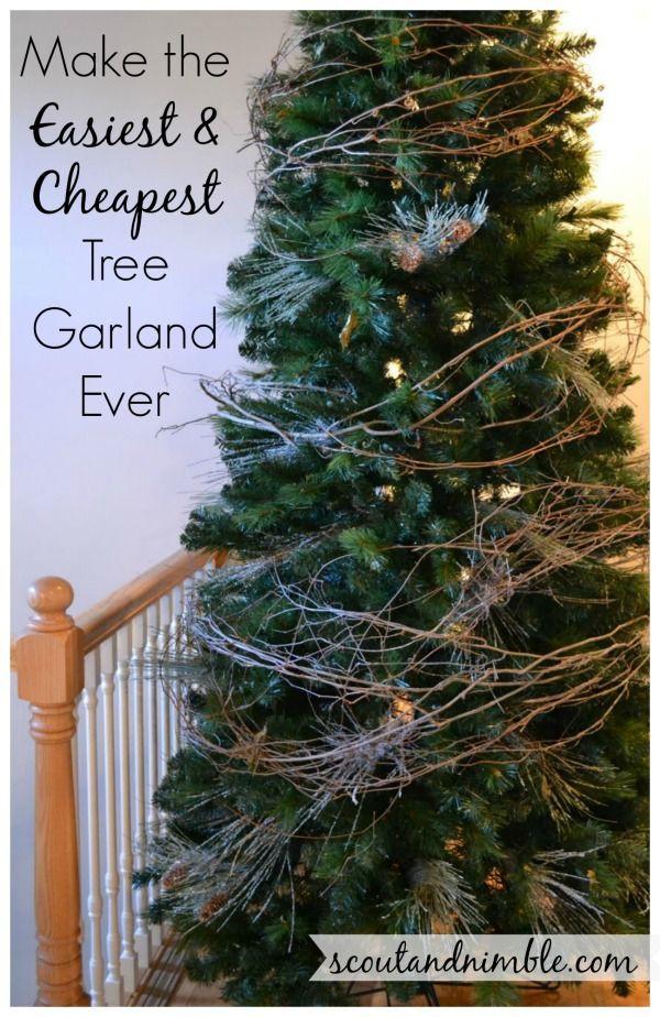 DIY Christmas Garland Ideas  Christmas Tree Decorating HolidayHome DIY Tree Garland