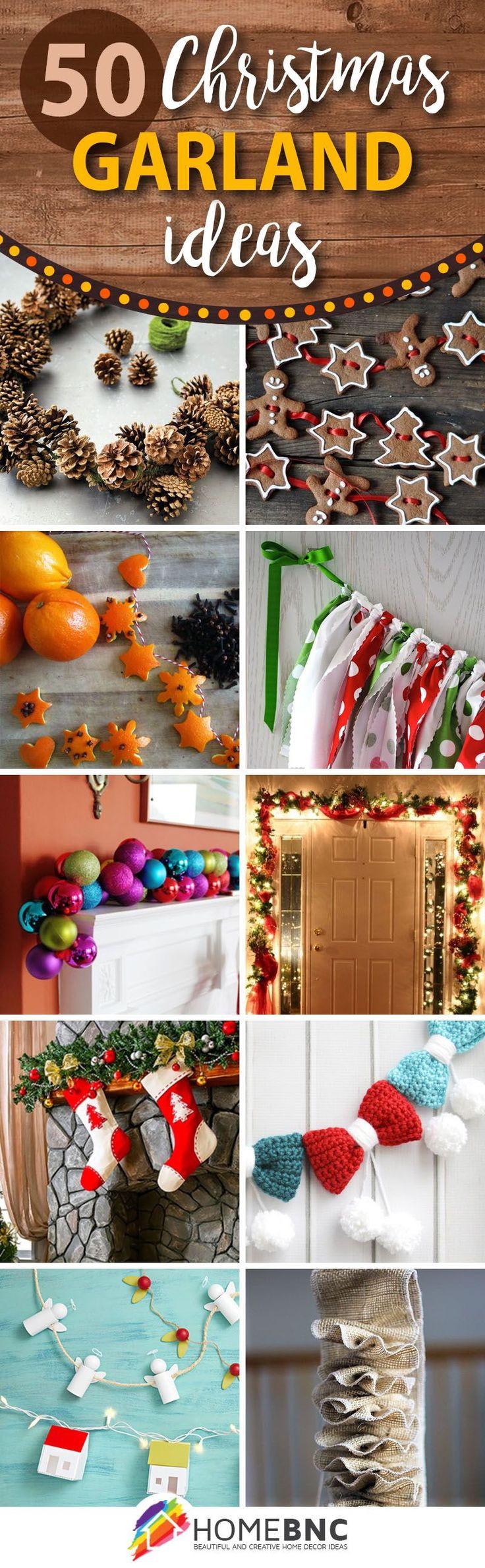 DIY Christmas Garland Ideas  Best 25 Christmas garlands ideas on Pinterest