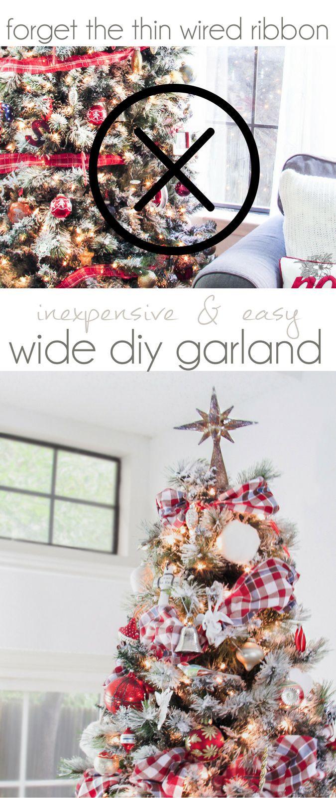DIY Christmas Garland Ideas  Best 25 Christmas tree garland ideas on Pinterest