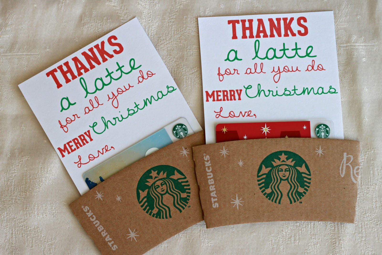 DIY Christmas Gift For Teachers  Man Starkey thanks a latte