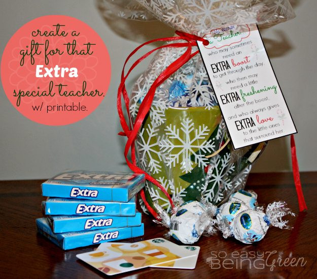 DIY Christmas Gift For Teachers  DIY Teacher Gifts for Christmas featuring Extra Gum for