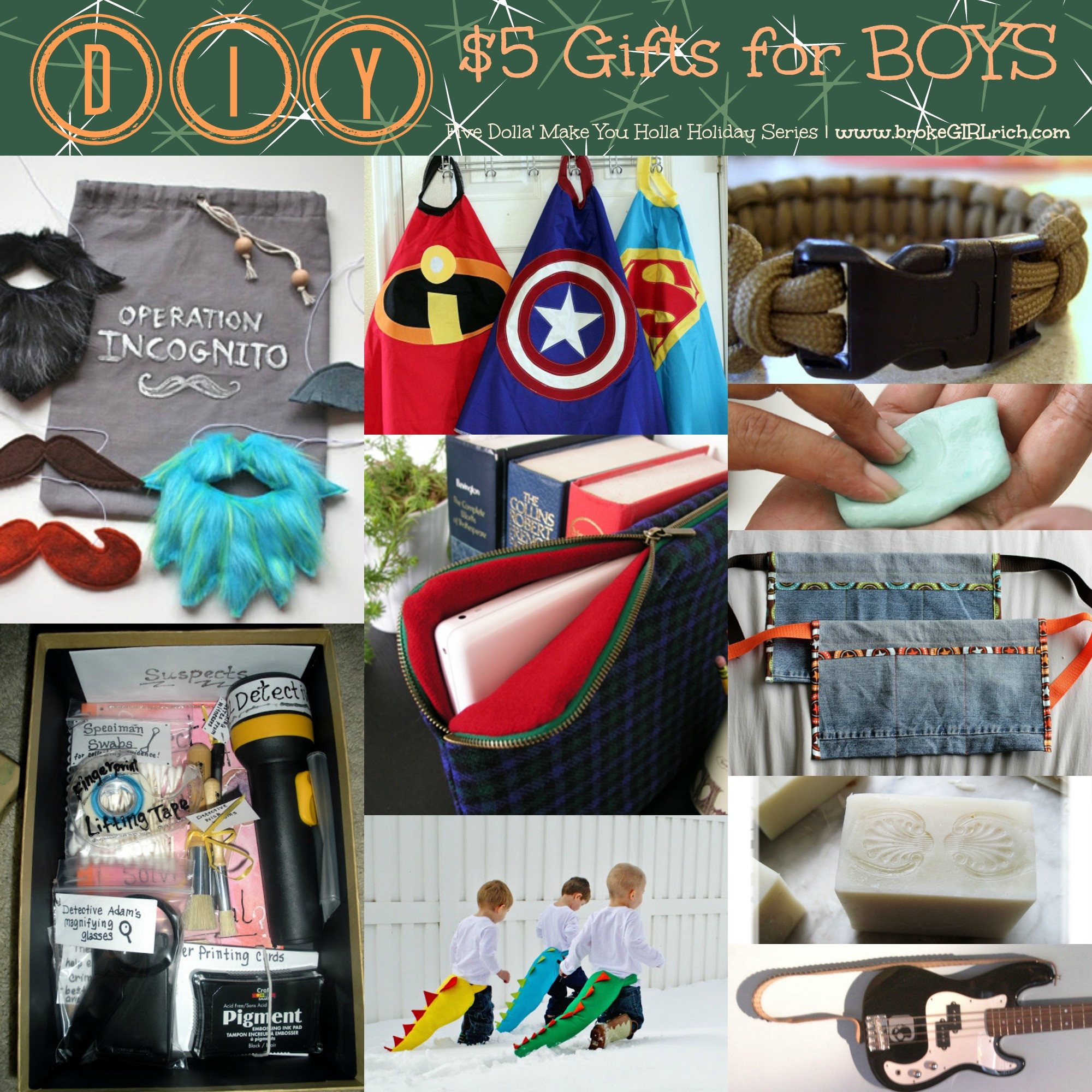 DIY Christmas Gifts For Boy  Five Dolla Make You Holla Holiday Series Brothers