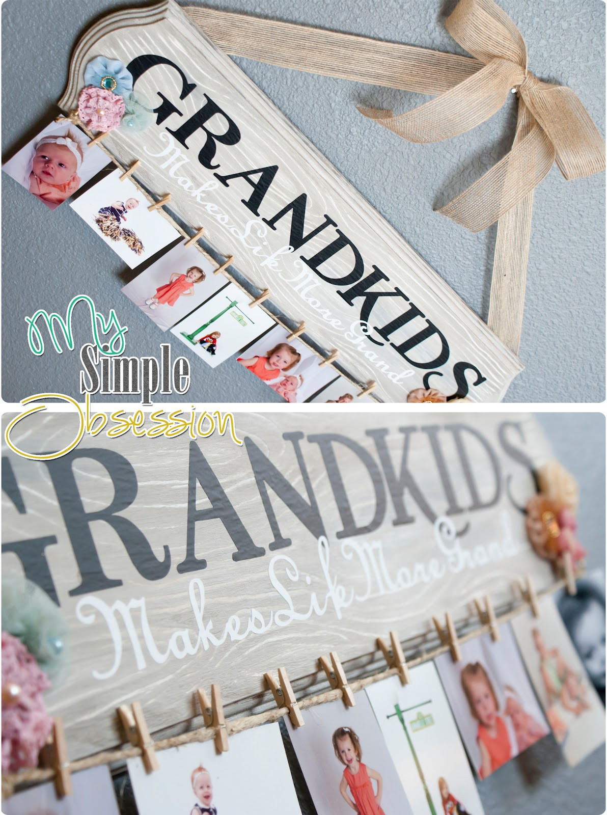 DIY Christmas Gifts For Grandma  My Simple Obsession Family Spotlight Display Tutorial