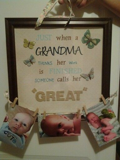 DIY Christmas Gifts For Grandma  25 best ideas about Great grandma ts on Pinterest