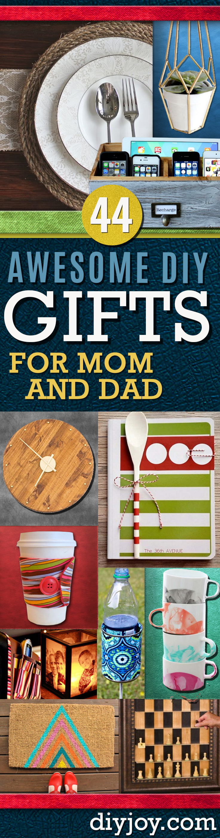 DIY Christmas Gifts For Mom  Awesome DIY Gift Ideas Mom and Dad Will Love
