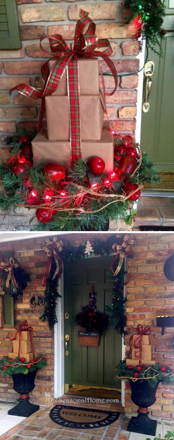 DIY Christmas Outdoor Decorations  40 Festive Outdoor Christmas Decorations