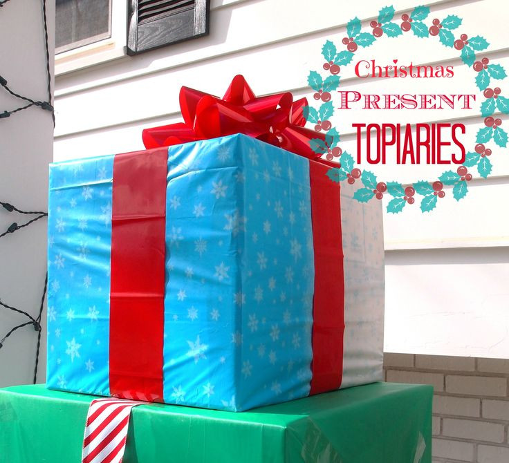 DIY Christmas Outdoor Decorations  How To Make An Outdoor Christmas Present Topiary