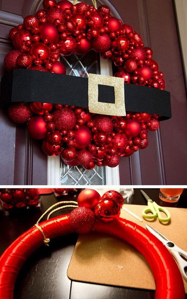 DIY Christmas Outdoor Decorations  20 Creative DIY Christmas Door Decoration Ideas Noted List