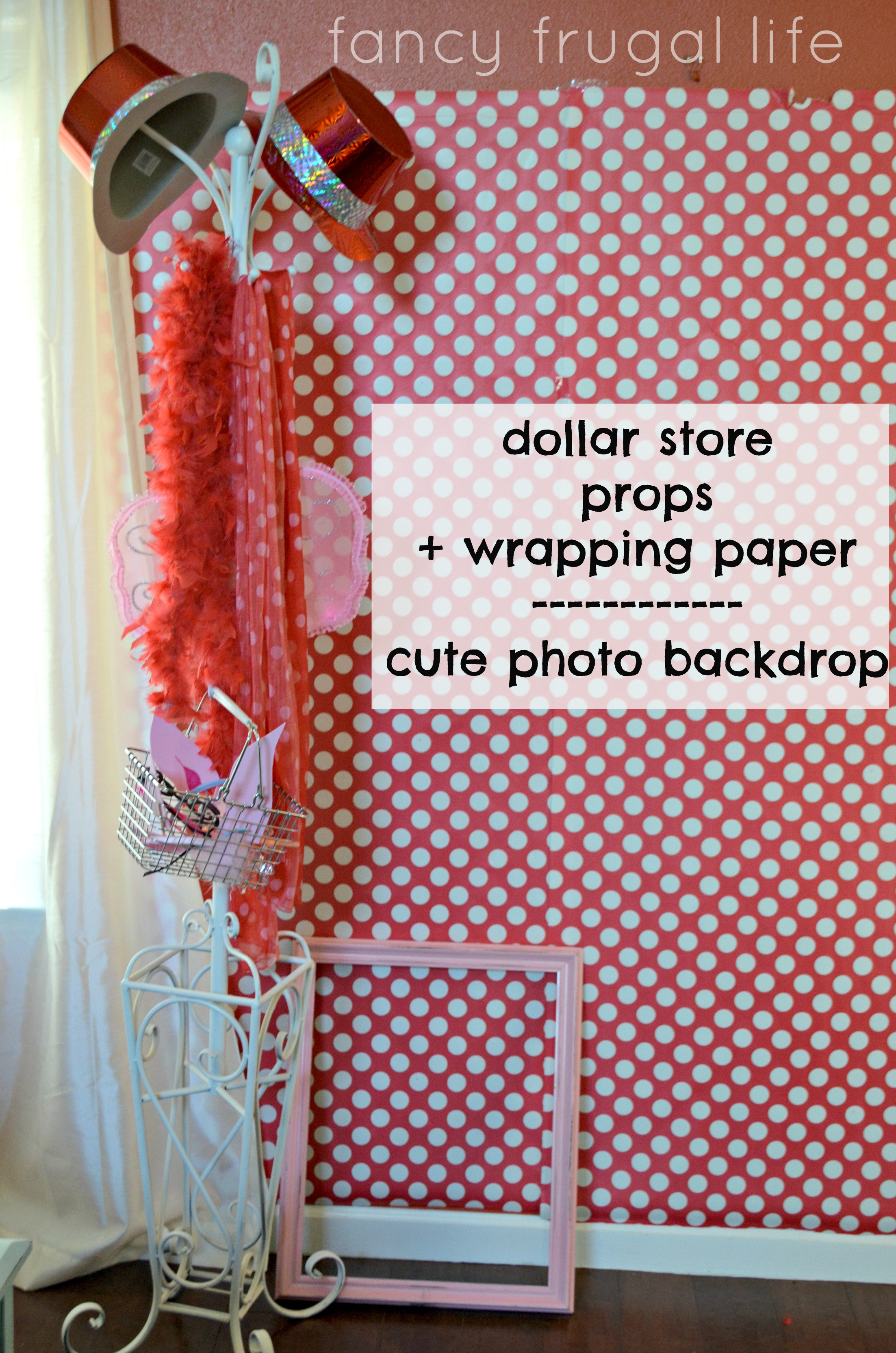 DIY Christmas Photography Backdrops  6 Fancy Frugal Party Planning Tips & the Olivia the Pig